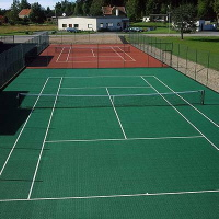 Bergo TENNIS Allwetterplatz in grün